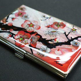 Mother of pearl business card case finished product
